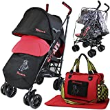 iSafe buggy Stroller Pushchair - Racer (Complete With Footmuff, Changing Bag, Bumper Bar & Rain cover)