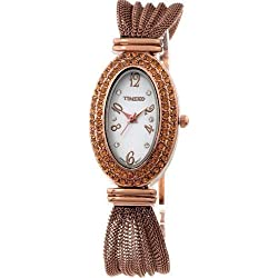 Time100 Egypt-style Diamond Jewelry Clasp Rose Golden Band Ladies Watch #W50033L.03A