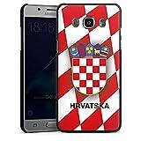 DeinDesign Samsung Galaxy J5 Duos (2016) Hülle Case Handyhülle Kroatien Em Trikot Football Fussball