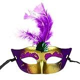 LETTER Frauen LED-Halloween-Maskerade-reizvolle Dame gemalte Spitze (D, Farbe)