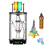 Ridgeyard 220V Delta 3D Printer Kossel Kit Rostock 3D Drucker Kits DIY G2s Dual Extruder LCD Control Panel Auto Level Geeetech hohe Präzision