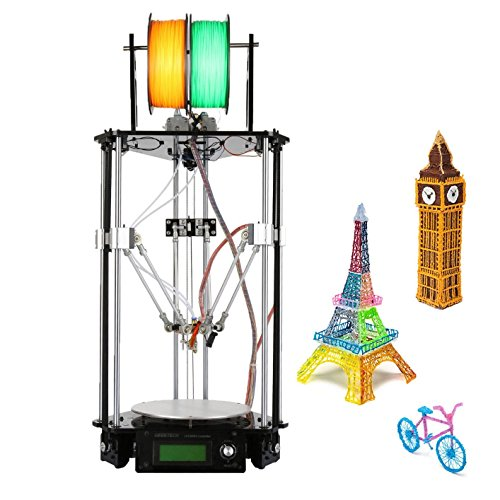 Ridgeyard 220V Delta 3D Printer Kossel Kit Rostock 3D Drucker Kits DIY G2s Dual Extruder LCD Control Panel Auto Level Geeetech hohe Präzision Rostock Delta