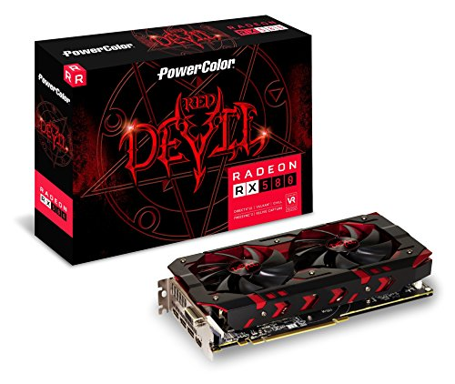 PowerColor AXRX580 8GBD5-3DHOC Grafikkarte, 8GB Speicher Grau bei Amazon