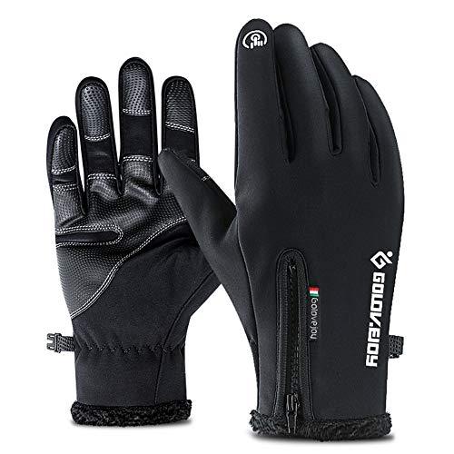 Ironland guanti touch screen per uomo e donna ciclismo alpinismo escursionismo outdoor guanti inverno nero l