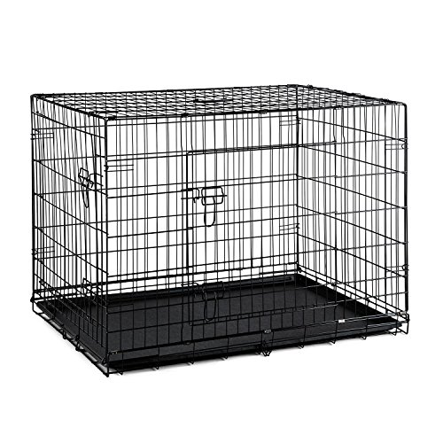 oneConcept Pet Cargo XL Hundetransportbox 77x82x121 cm Metall PVC-Wanne