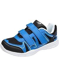 Sportschuhe Sneaker, Art. 0147, mit Klettverschluss, Schwarz/Neongrün, Gr. 41 Gibra