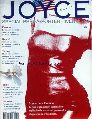 JOYCE PARIS [No 41] du 01/12/1993 - PRET-A-PORTER HIVER 93 - 94 - PARFUMS - LES SEINS - TIFFANY - MODE - MANHATTAN EXPRESS.