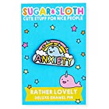 The Rainbow Narwhal of Anxiety Hard Enamel Pin