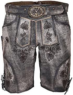 Michaelax-Fashion-Trade Krüger - Herren Lederhose in grau, Grauer Hirsch (94693-44)