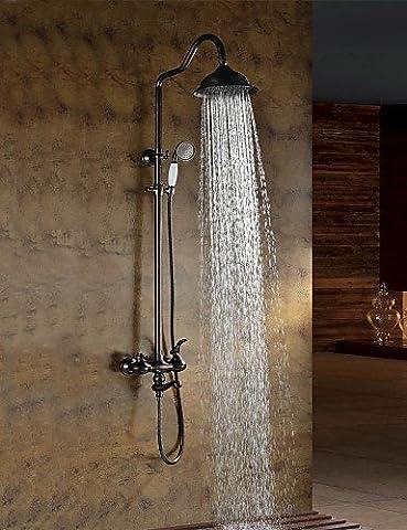 DALIU-Robinet de douche - Antique - Douche pluie / Douchette inclue - Laiton (Bronze huilé)