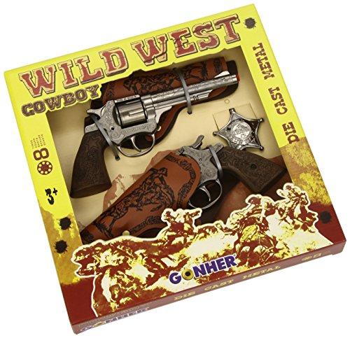 Gewehr-gürtel Western (Gonher S.A.–a1302723–Pistole–Coffret Wild Western aus Metall)