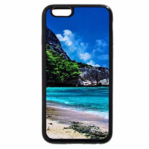 iPhone 3S/iPhone 6Coque (Noir) Anse (Rhône) Beach, la Digue Island
