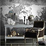 Décoration Murale Murale personnalisée 3D papier peint Vintage carte du monde créatif décor mural restaurant salle d'étude étanche à l'humidité 3D photo murale papiers peints-250 X 200CM