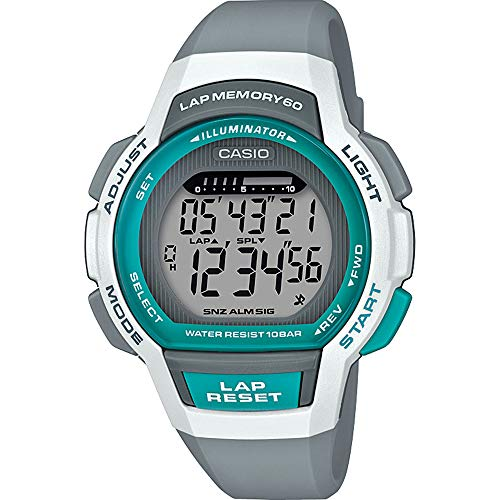 CASIO Damen Digital Quarz Uhr mit Harz Armband LWS-1000H-8AVEF