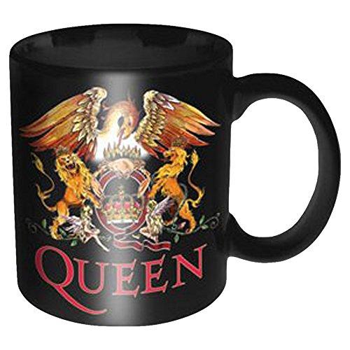 empireposter - Queen - Classic Crest - Größe (cm), ca. Ø8,5 H9,5 - Lizenz Tassen, NEU - Queen Boxed Mug: Classic Crest - Beschreibung: - Keramik Tasse, bedruckt, Fassungsvermögen 320 ml, offiziell lizenziert, spülmaschinen- und mikrowellenfest -