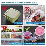 Tapas de Silicona EláSticas,Domserv 12 PCs Varios Tamaños Reutilizable Fundas para Tazones,para Lavavajillas, Microondas, Horno y congelador