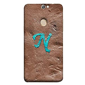 YuBingo Designer Phone Back Case Cover Coolpad Max A8 ( Monogram with Beautifully Written Paint Finish letter N )