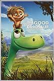 Disney The Good Dinosaur Poster Pixar Arlo & Spot (93x62 cm) gerahmt in: Rahmen silber matt