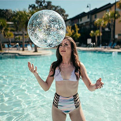 Aufblasbare Pailletten Transparent PVC Wasserball Sommer Wasser Spielzeug Spielen Ball Pool Party Supplies für Kinder Erwachsene ()