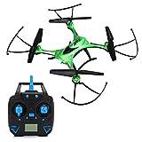 RC Quadcopter RTF, JJRC H31 imperméable à l'eau Drone avec télécommande sans tête Mode Une clé pour retourner 4CH 6-Axis Gyro 3D Vol Vol de nuit avec batterie et tous les accessoires (vert)