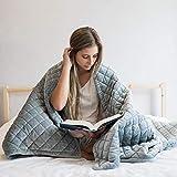 Premium Gewichteter Deckenbezug für Kinder & Erwachsene   Baumwolle grau(122x183cm-Abdeckung...