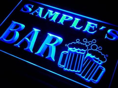 w-tm Name Personalised Custom Home Bar Beer Mugs Cheers Neon Sign