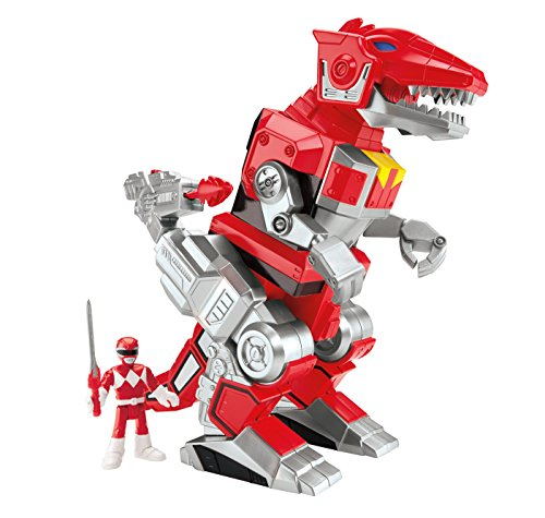 Imaginext CJP64 Power Rangers Red Ranger And T-Rex Zord Figure