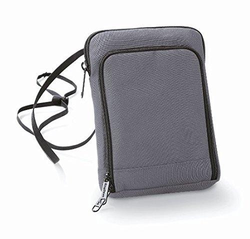 Bagbase-poliestere-Portafoglio da viaggio, compatibile con Smartphone Grigio grigio