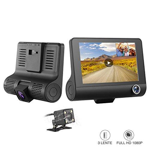 SENDOW Cámara De Coche Dash Cam Resolución 1080P. Con Pantalla De 4 Pulgadas y Sensor De Grabación WDR En Bucle. Ideal Vigilancia En Parking y Durante La Conducción