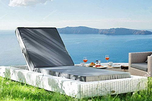 Au jardin de chloé - Chaise longue bain de soleil résine tressée Design - ZOE BLANC - Blanc - 1 place