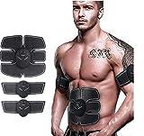 NOVECASA Muscolo Toner Muscolo Stimolatore Addominale Apparecchio EMS Cintura Addominale ABS/Braccio/Stimolatore Gambe (Addome 6 + 2 Braccia)