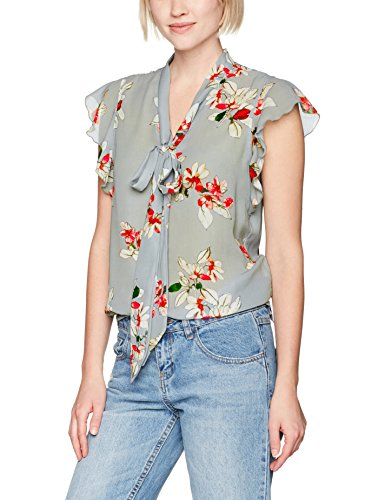 Only Onlsophia Frill Bow Top Wvn, Camicia Donna Multicolore (Shadow Aop:flower Print)