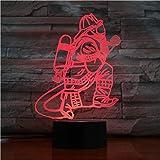 3D Lámpara LED luz de la noche Bombero 7 colores Interruptor táctil y control remoto lámpara para el Hogar Decoración para Niños Mejor Regalo San Valentín de Navidad