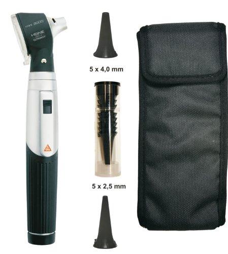 Heine Otoskop (Otoskop Heine Mini 3000 2,5 V mit Batteriegriff + Hochwertige Diagnostikleuchte schwarz)