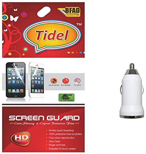 Tidel Ulta Clear Screen Guard for Micromax Canvas Mad A94 With Car Charger Adapter  available at amazon for Rs.229