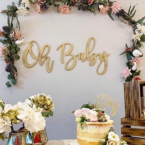 Ca565urs Oh Baby Wood Word Cutout Kinderzimmerdeko Gold Baby Shower Decor Gold Word Cutouts Laser Cut Words Nursery Name Schild