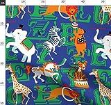 Zirkus, Tiere, Alphabet, Karneval, Zoo, Wild Stoffe -