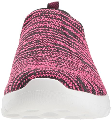 Skechers Damen Go Walk Joy-Nirvana Slip On Sneaker Black/Hot Pink