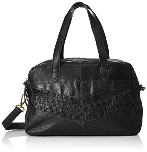 PIECES Damen Pcjimini Leather Bag Henkeltasche, 17 x 32 x 53 cm Schwarz (Black)
