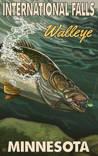 Northwest Art Mall International Falls Minnesota Walleye Kunstwerk, von Paul A. Lanquist, 28 x 43 cm
