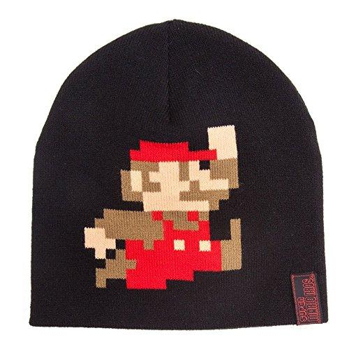 Kostüm Rote Kleine Womens - Nintendo Mütze Super Mario, schwarz
