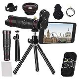 BWORPPY Kamera Objektiv Kit, 22X Teleobjektiv Kit, FOV Phone Objektivanschluss mit Stativ für iPhone X / 8/7/7 Plus / 6 s / 6/5, Samsung Galaxy Die Meisten Smartphones