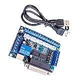 F Fityle 5 Achsen Schrittmotortreiber Schnittstellenkarte + USB Kabel Optokoppler Isolation Für MACH3 Graviermaschine