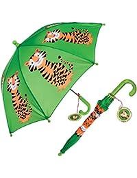 Los niños de la primavera Cargado paraguas – elección de diseño verde Tiger