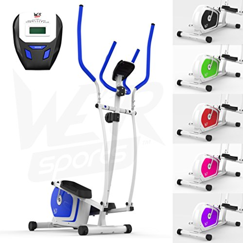 We R Sports Elliptisch ?berqueren Trainer & ?bung Fahrrad 2-in-1 Zuhause Cardio- Training (Blau)