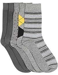 Hush puppies Men's Calf Socks (Pack of 5)