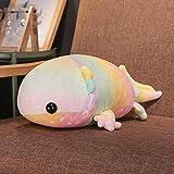 BBSJX Peluche Colorido Dinosaurio Pez Juguetes De Peluche Relleno De Algodón Gigante Salamandra Muñeca De Juguete, para Niños Almohadas Suaves 1 Piezas @ 46 Cm_1