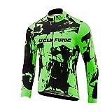 Uglyfrog Fahrrad Winterbekleidung Herren Rennrad Trikots Lange Ärmel Winter Thermo Fleece Voller Reißverschluss Jacket