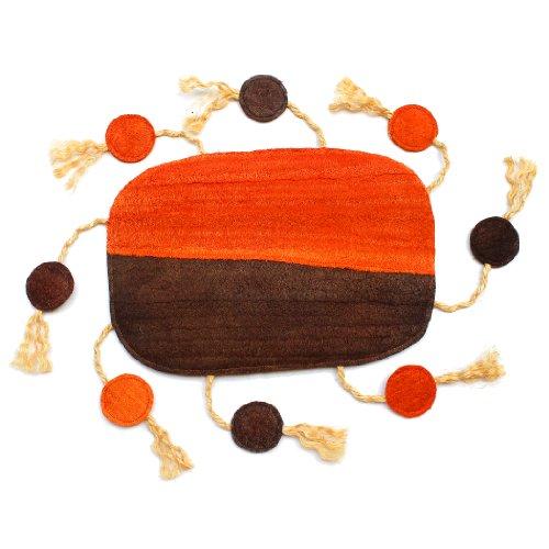 ecoloofah estación de rascador de Plain Original Juguete, Medio, Naranja/marrón