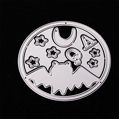 Halloween Stanzschablonen, FNKDOR Scrapbooking Stanzmaschine Prägeschablonen Metall Schablonen Stanzformen, für Sizzix big shot / Cuttlebug / und andere Prägemaschine (E)